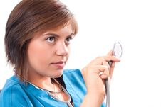Free Medical Doctor With Stethoscope Royalty Free Stock Photo - 21168335