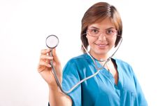 Medical Doctor With Stethoscope Stock Photo