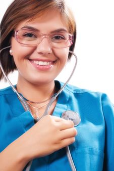 Free Medical Doctor With Stethoscope Stock Image - 21168351