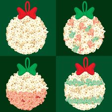 Free Assorted Popcorn Christmas Globes Royalty Free Stock Photos - 21169518