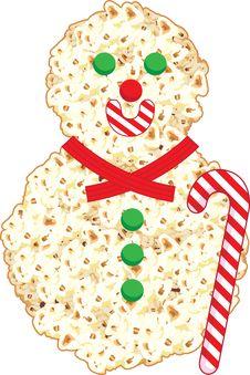 Free Pop Corn Snowman Illustration Stock Image - 21169521