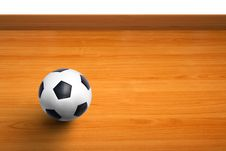 Free A Ball On Wooden Floor As Background Royalty Free Stock Images - 21169909