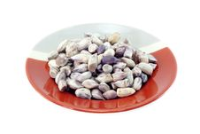 Free Peanuts On Red And Gray Plate Royalty Free Stock Photography - 21169927