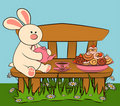 Free Sweet Cakes And Rabbit. Royalty Free Stock Image - 21176086