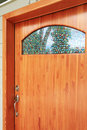 Free Wood Custom Build Front Door Exterior Stock Image - 21179451