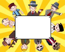 Free Cartoon Mafia Card Stock Images - 21170004
