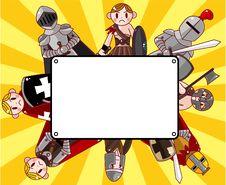 Free Cartoon Knight Card Royalty Free Stock Image - 21170006