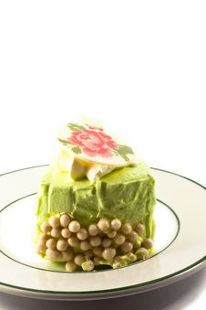 Free A Piece Of Green Cake Royalty Free Stock Image - 21170226