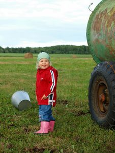 Free Children In Farm Royalty Free Stock Photo - 21170345