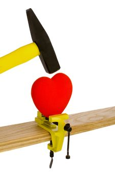 Free Photo With A Broken Heart Isolated Royalty Free Stock Photography - 21170417