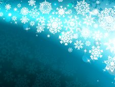 Winter Background With Lights. EPS 8 Royalty Free Stock Photography