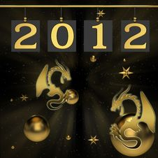 Free Background For New 2012 Year Stock Photography - 21170552