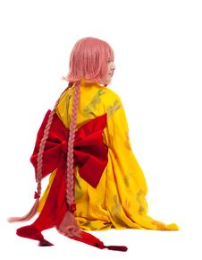 Free Girl In Cosplay Character Kimono Costume Stock Images - 21170714