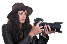 Free Attractive Photographer Stock Image - 21171081