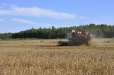 Free Combine In The Field Stock Photo - 21171610