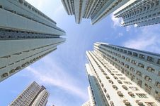 Free Hong Kong Crowded Apartment Blocks Royalty Free Stock Photography - 21171707