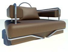 Free Single Brown Sofa Stock Photography - 21171762