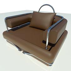 Single Brown Sofa Stock Photography