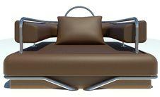 Single Brown Sofa Stock Images