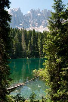 Free Lake Carezza Stock Images - 21172224