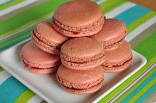 Free Macarons On The Plate Royalty Free Stock Photography - 21172387