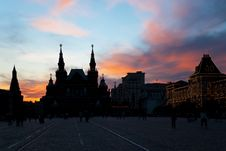 Free Sunset Over Red Square In Moscow. Stock Photos - 21172503