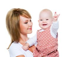 Free Beautiful Happy Mother With Baby Stock Images - 21172564
