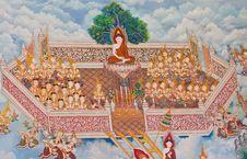 Free Thai Art Wall Stock Photography - 21172732