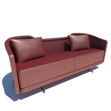 Free Red Sofa 3D Rendering Stock Images - 21172734