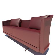 Free Red Sofa 3D Rendering Stock Image - 21172851