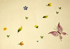 Free Flower And Buterflies Royalty Free Stock Photography - 21173117