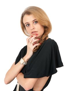 Free Young Pensive Caucasian Woman Royalty Free Stock Photos - 21173318