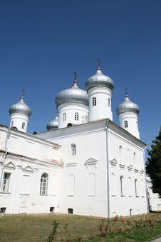 Yuriev Monastery In Great Novgorod Stock Photo