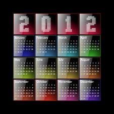 Free Calendar 2012 Stock Images - 21173554