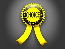 Free Yellow Best Choice Label On Black Background Royalty Free Stock Image - 21174136
