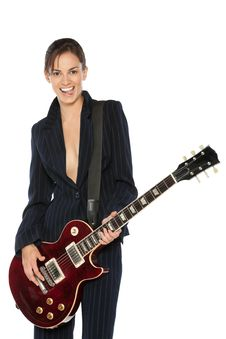 Free Girl With A Guitar Stock Images - 21174374