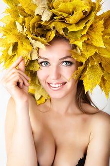 Free Autumn Women. Royalty Free Stock Image - 21174476