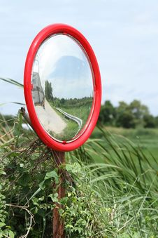 Free Security Convex Mirror Royalty Free Stock Photography - 21174527