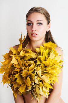 Free Autumn Women. Royalty Free Stock Image - 21174596