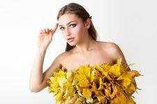 Free Autumn Women. Royalty Free Stock Image - 21174616