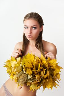 Free Autumn Women. Stock Image - 21174651