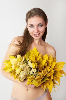 Free Autumn Women. Stock Image - 21174731