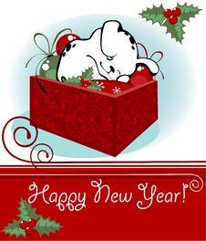 Free Christmas Card Royalty Free Stock Photos - 21174938
