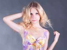 Free Portrait Of A Beautiful Young Blonde Woman Stock Photo - 21175580
