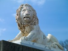 Lion Sculpture Stock Photo