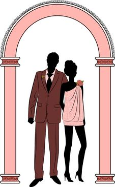 Free Illustration Of Beautiful Bride And Groom Stock Photo - 21176020