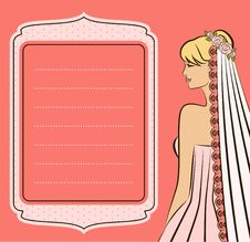 Free Illustration Of Beautiful Bride Royalty Free Stock Image - 21176046