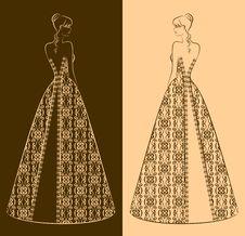 Free Illustration Of Beautiful Bride Stock Photo - 21176050