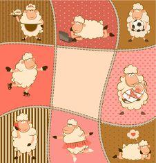 Free Illustration Of Cartoon Sheep Stock Photography - 21176192