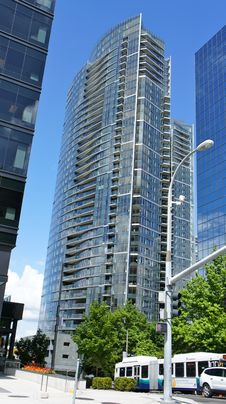 Modern Tower In Bellevue, Washington Stock Images